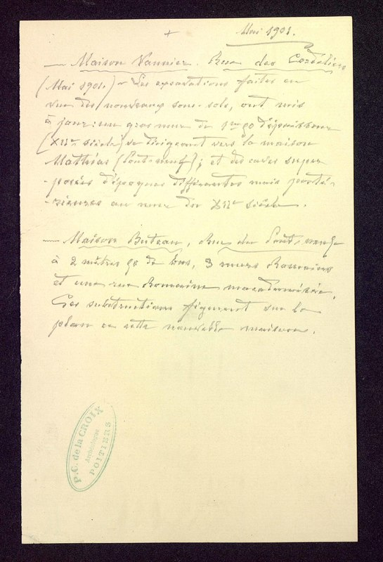 Visuel du media #11 - Mai 1901, [Poitiers (Vienne)] page 1
