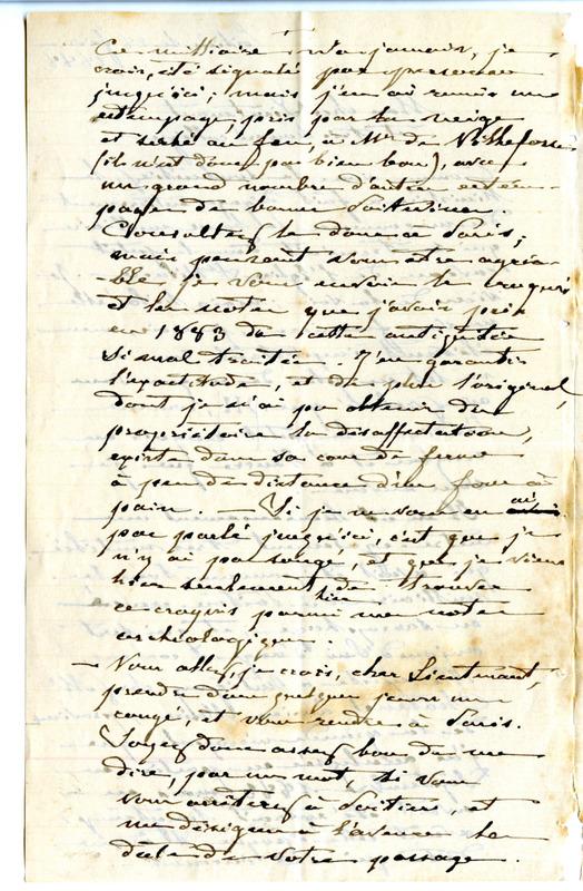 Visuel du media #6 - Lettre de De La Croix à Espérandieu du 28 février 1888, page 3