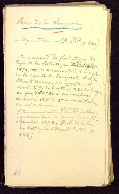 Visuel du media #10 - Fichier de notes sur les rues de Poitiers, page 10