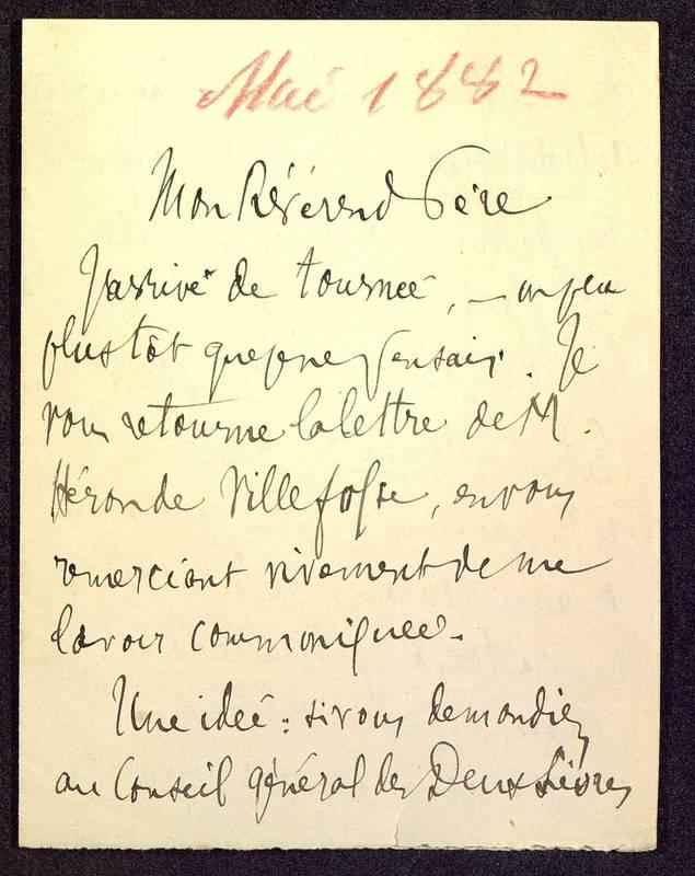 Visuel du media #9 - Lettre (01/05/1882) | Page 1 | FRAD86_16J3_31_005