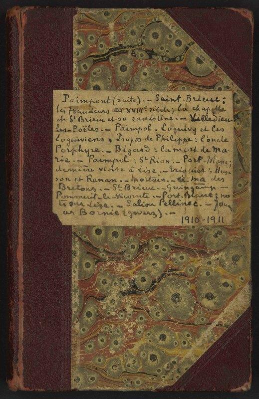 Visuel du document Carnet V, 1910-1911