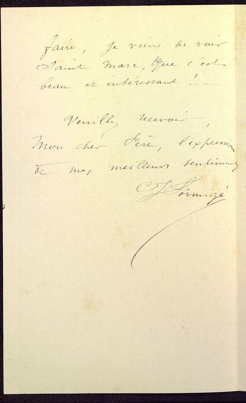 Visuel du media #2 - Lettre de Formigé à De La Croix du 03 avril 1883, page 2