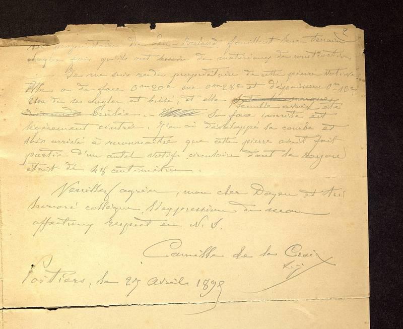 Visuel du media #11 - Lettre de Hild à Hild du 27 avril 1898, page 2
