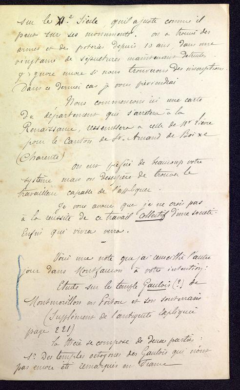 Visuel du media #7 - Lettre de Dumuÿs à De La Croix du 02 novembre 1886, page 3