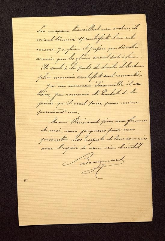 Visuel du media #11 - Lettre de Beaunard à De La Croix du  septembre , page 2