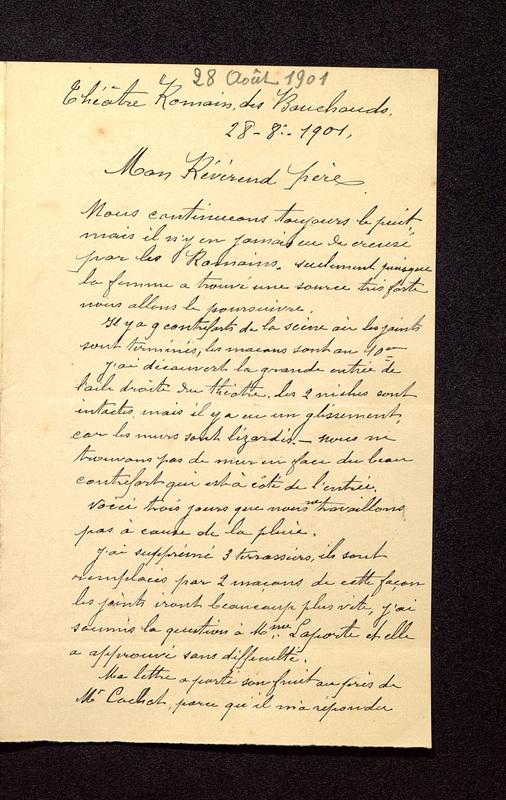 Visuel du media #5 - Lettre de Beaunard à De La Croix du 21 août 1901, page 1
