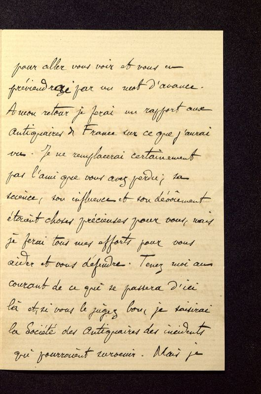 Visuel du media #9 - Lettre de Héron de Villefosse à De La Croix du 08 juin 1882, page 3
