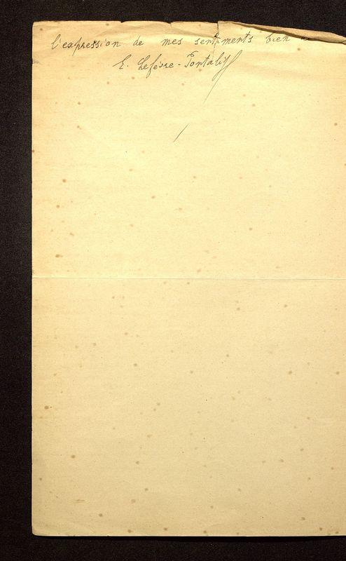 Visuel du media #3 - Lettre de Lefèvre-Pontalis à De La Croix du 01 décembre 1900, page 2