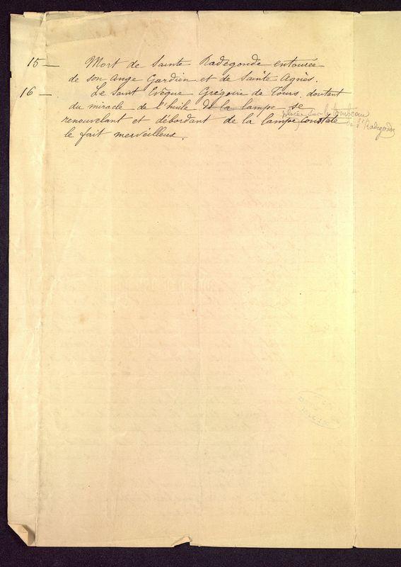 Visuel du media #7 - Notes Sainte-Radegonde 20 septembre 1901, page 2