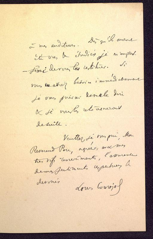 Visuel du media #6 - Lettre de Courajod à De La Croix du 26 novembre 1890, page 3