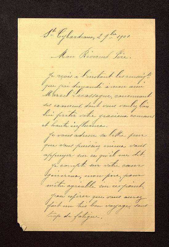 Visuel du media #8 - Lettre de Beaunard à De La Croix du 02 septembre , page 1