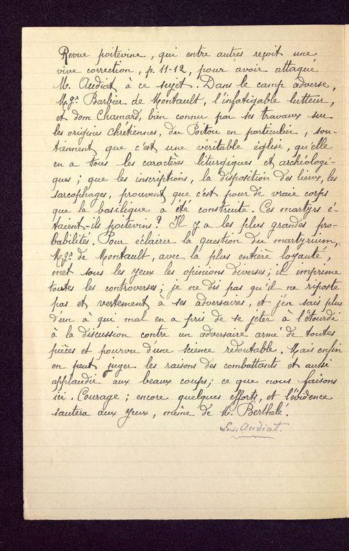 Visuel du media #2 - Documents sur la question du Martyrium de Poitiers n°1 à 4, page 2