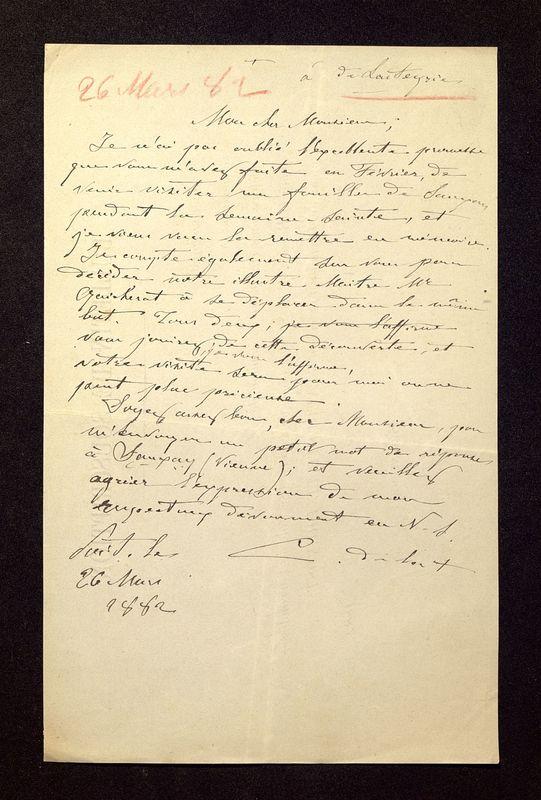 Visuel du document Correspondance avec Robert Charles de Lasteyrie du Saillant (1882-1909)