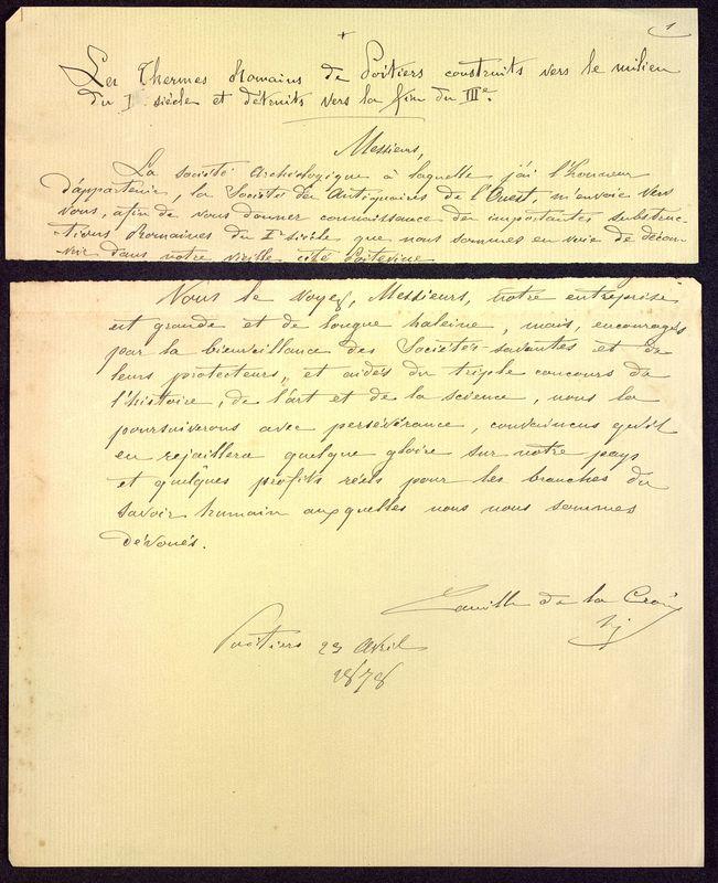 Visuel du media #8 - Les thermes de Poitiers, manuscrit communication 7 p., page 8