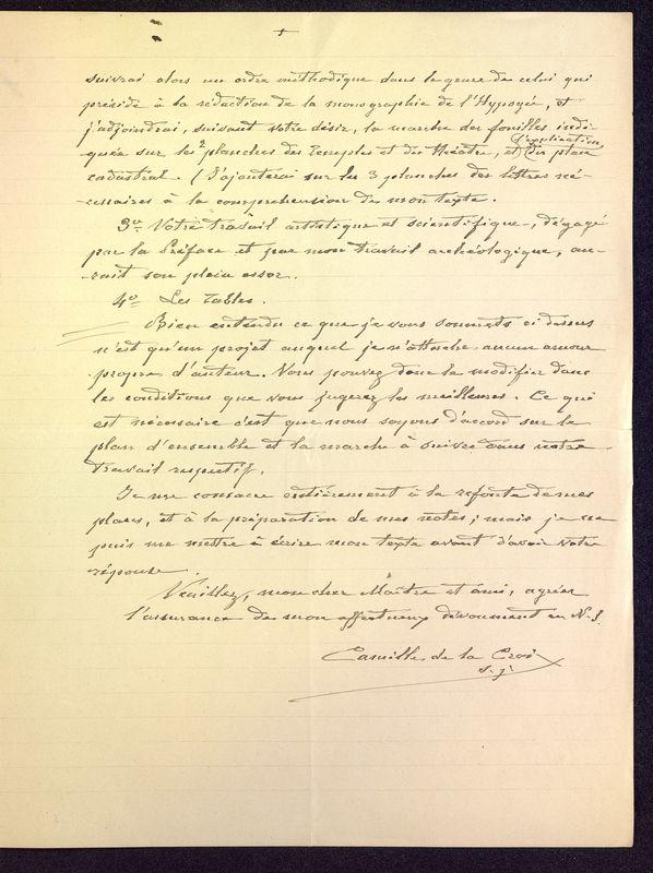 Visuel du media #11 - Lettre de De La Croix à Babelon du 14 novembre 1897, page 3