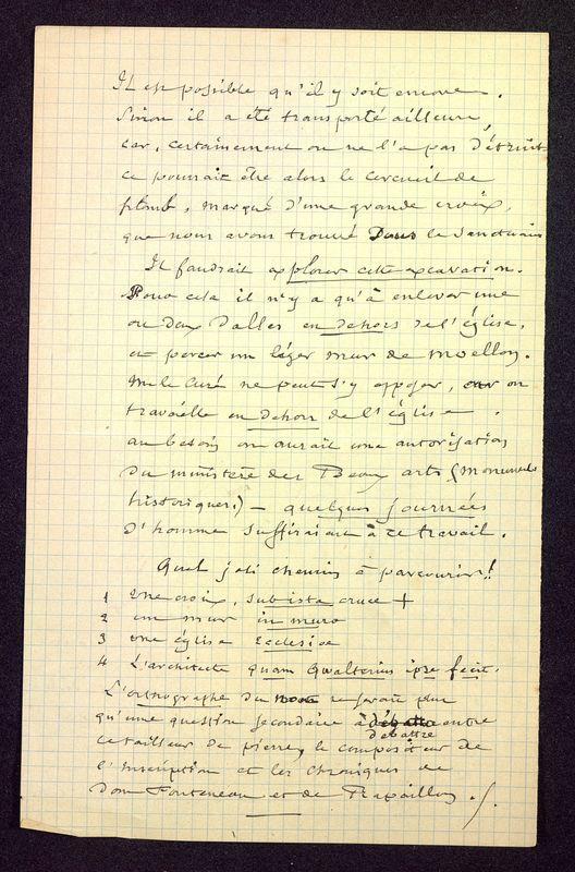 Visuel du media #12 - Note au Père de la Croix, Église Saint-Hilaire, page 2