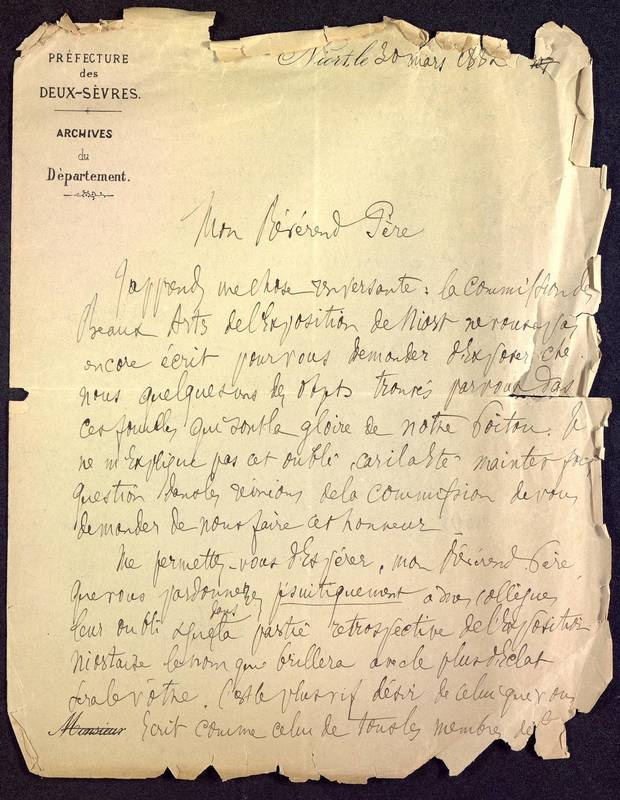 Visuel du media #5 - Lettre (30/03/1882) | Page 1 | FRAD86_16J3_31_002