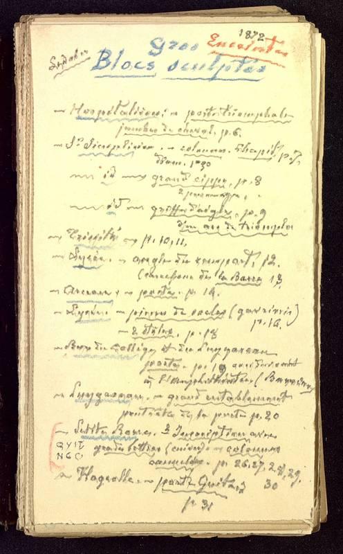 Visuel du media #2 - Fichier de notes sur les rues de Poitiers, page 2