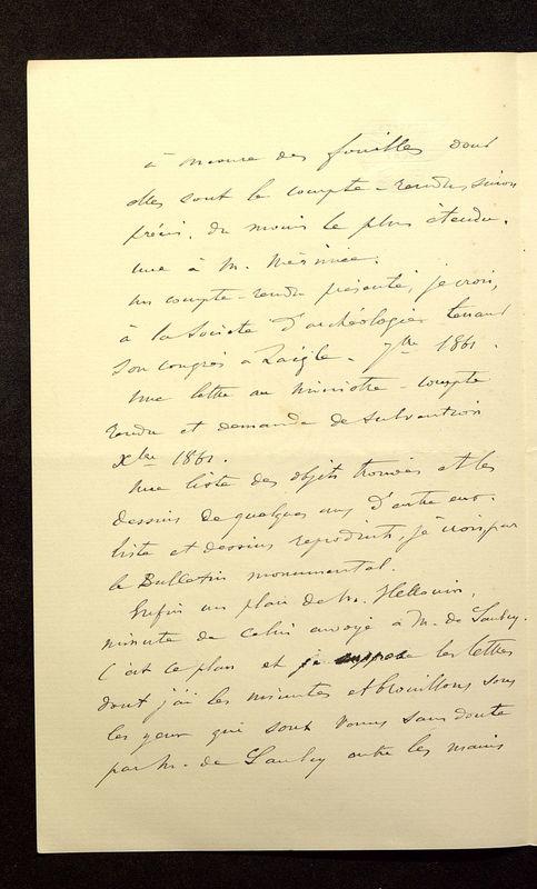 Visuel du media #9 - Lettre de Join-Lambert à De La Croix du 26 juillet 1896, page 2