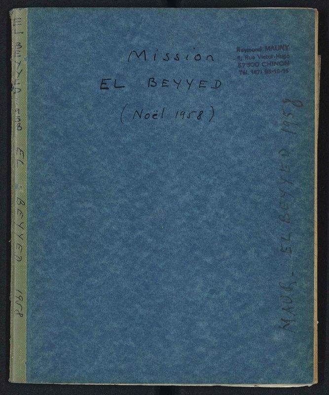 Visuel du document Mission El Beyyed (Adrar de Mauritanie), Noël 1958