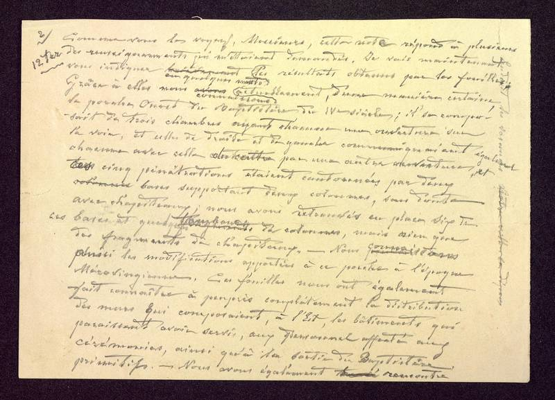 Visuel du media #10 - Manuscrit pour une communication, Baptistère Saint-Jean, page 2