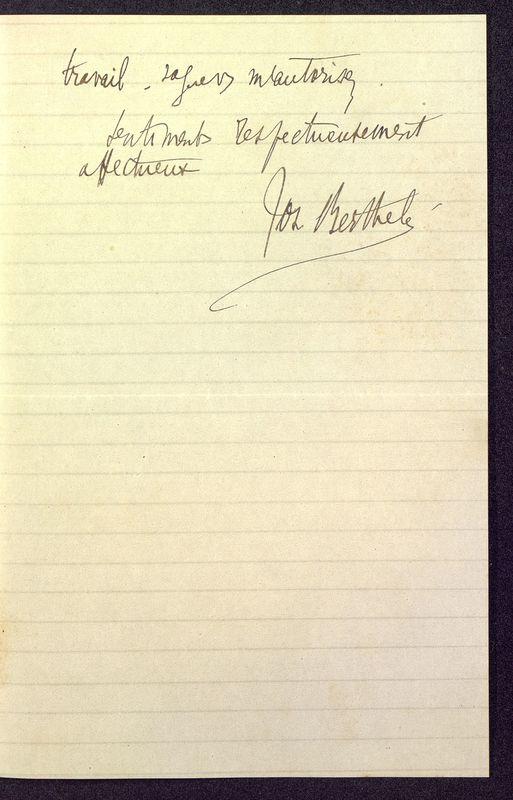 Visuel du media #4 - Lettre de Berthelé à De La Croix du 17 mars 1884, page 2