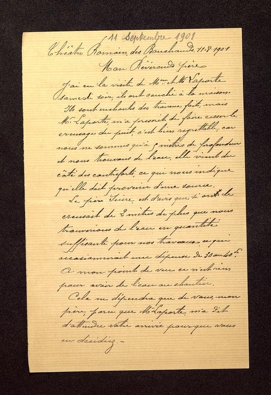 Visuel du media #10 - Lettre de Beaunard à De La Croix du  septembre , page 1