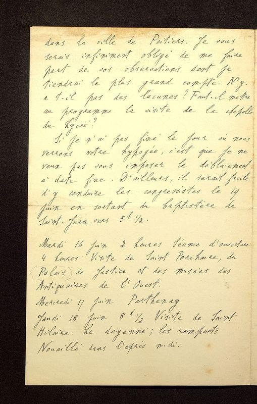 Visuel du media #12 - Lettre de Lefèvre-Pontalis à De La Croix du 16 janvier 1903, page 2