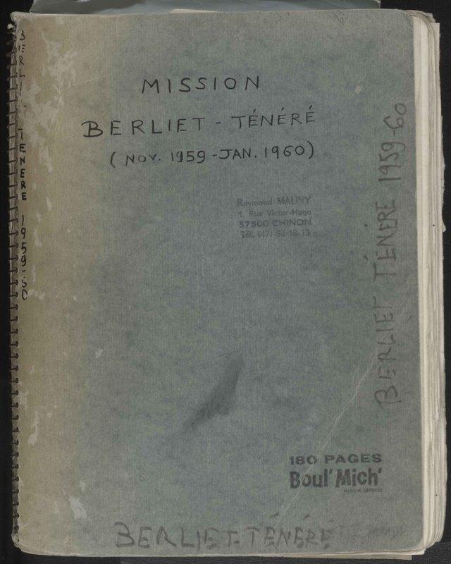 Visuel du document Mission Berliet-Ténéré, novembre 1959 - Janvier 1960