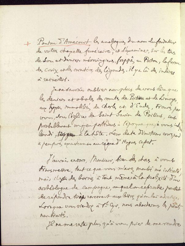 Visuel du media #10 - Lettre de Fillon à De La Croix du 14 novembre 1879, page 10