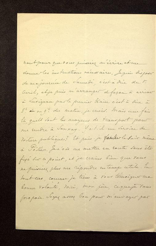 Visuel du media #3 - Lettre de Lasteyrie Du Saillant à De La Croix du 29 mars 1882, page 2