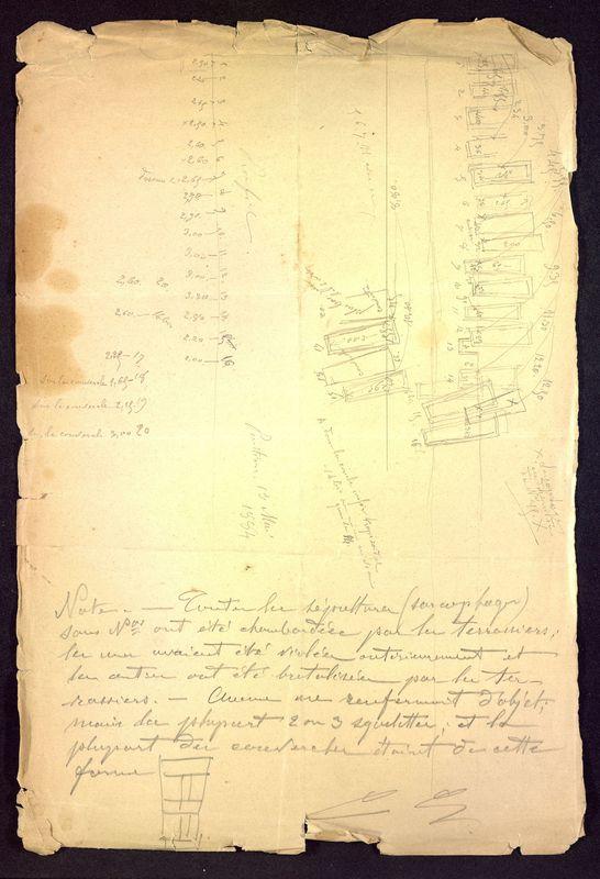 Visuel du media #10 - Notes et croquis sur le cimetière de Saint-Hilaire, page 3