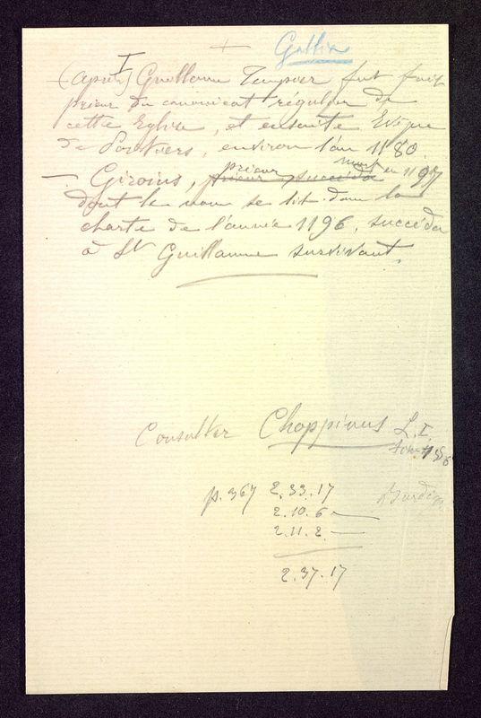 Visuel du media #2 - Notes manuscrites