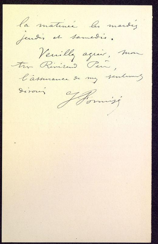 Visuel du media #12 - Lettre de Formigé à De La Croix du 23 décembre 1897, page 2