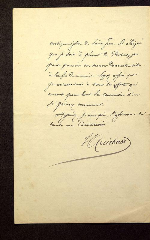 Visuel du media #5 - Lettre de Quicherat à De La Croix du 03 septembre 1879, page 2