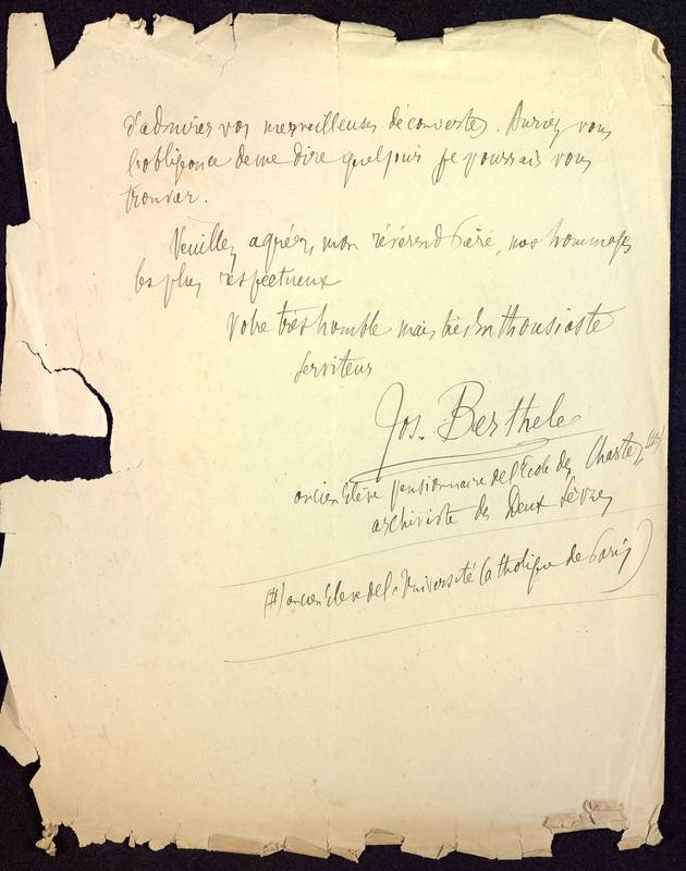 Visuel du media #2 - Lettre (22/09/1881) | Page 2 | FRAD86_16J3_31_001