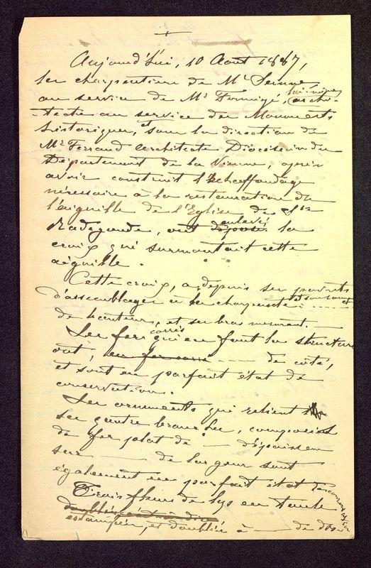Visuel du media #2 - Notes manuscrites sur une croix, page 1