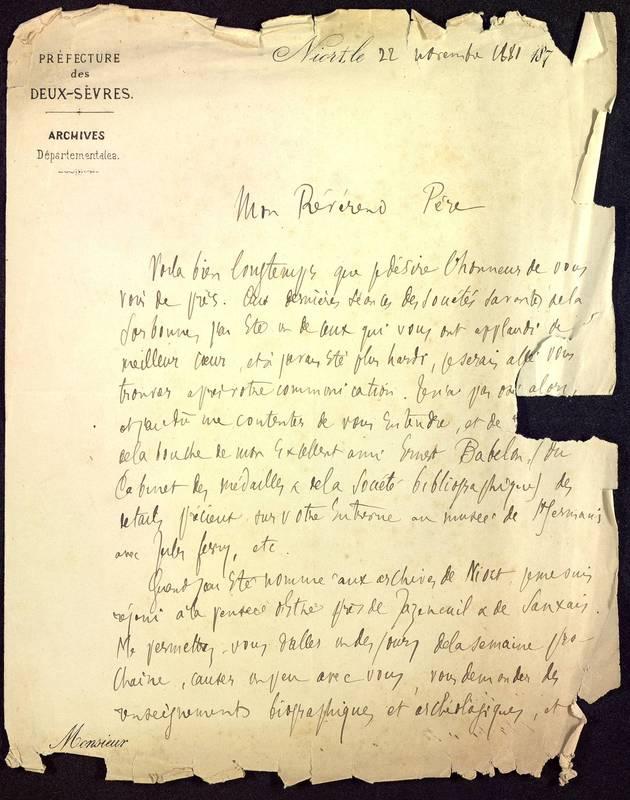Visuel du projet Correspondances, père Camille De la Croix