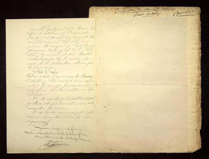 Visuel du media #13 - Lettre de Viollet-le-Duc à De La Croix du 06 juin 1883, page 2