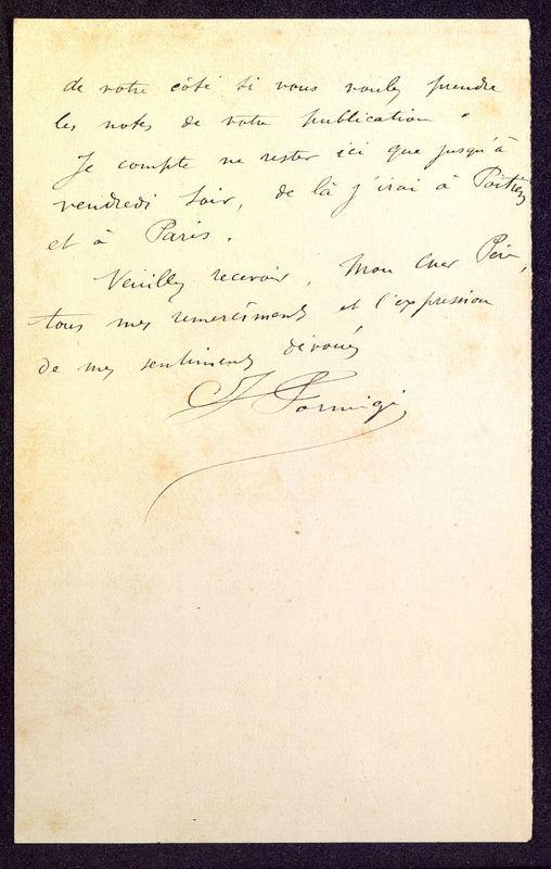 Visuel du media #6 - Lettre de Formigé à De La Croix du 17 septembre 1884, page 2