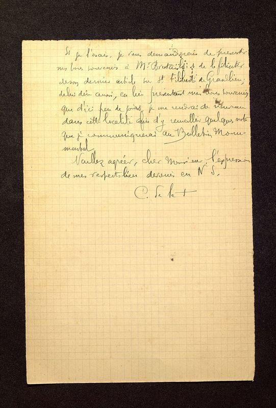 Visuel du media #8 - Lettre de De La Croix à Jullian du 14 février 1903, page 2