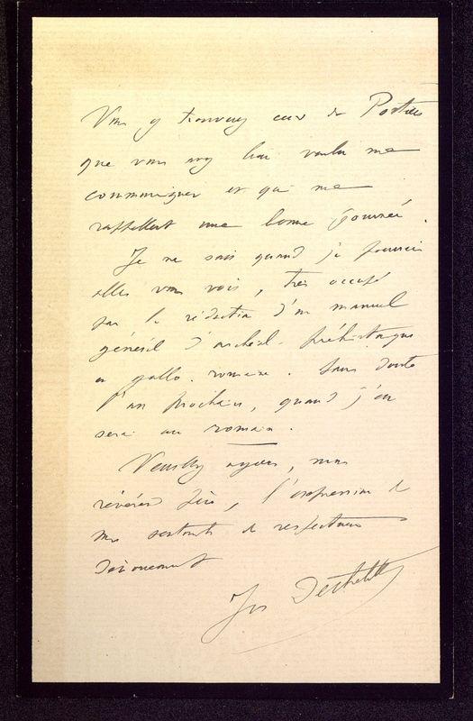 Visuel du media #12 - Lettre de Déchelette à De La Croix du 22 juin 1906, page 2