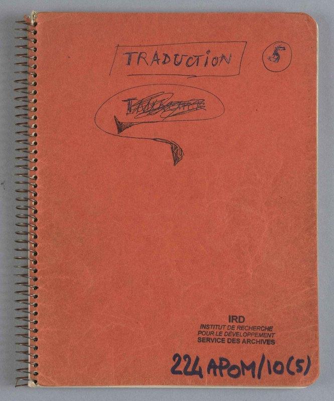 Visuel du document Cahier de traductions 05 (Niger), 1965