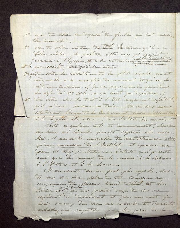 Visuel du media #2 - Lettre de De La Croix à Quicherat du 31 août 1879, page 2