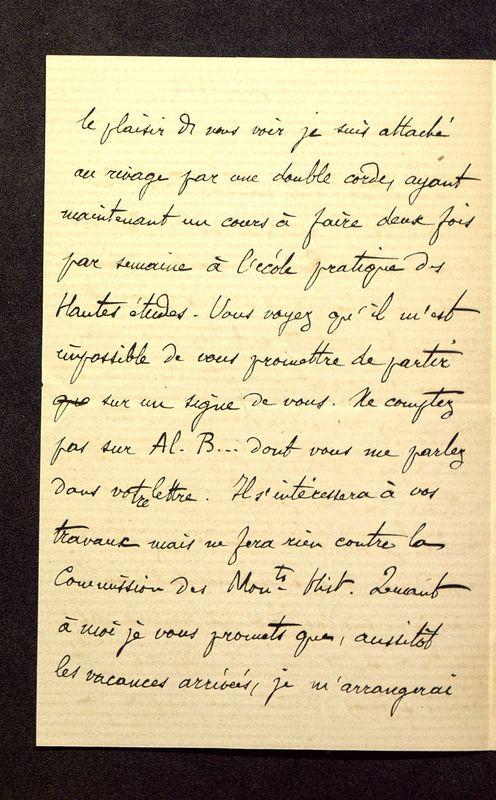 Visuel du media #8 - Lettre de Héron de Villefosse à De La Croix du 08 juin 1882, page 2