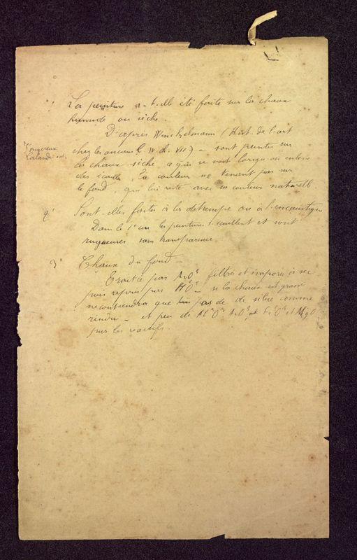 Visuel du media #11 - Notes peinture, Baptistère Saint-Jean, page 1
