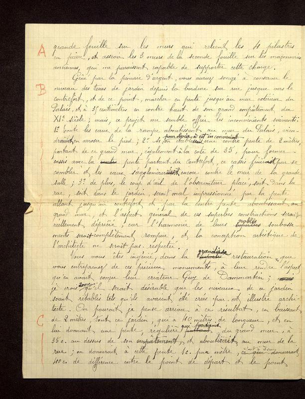 Visuel du media #12 - Lettre de De La Croix à Magne du 07 octobre 1904, page 2