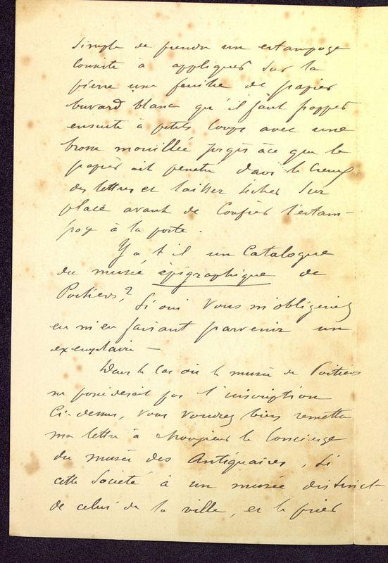 Visuel du media #6 - Lettre de Espérandieu à De La Croix, page 2