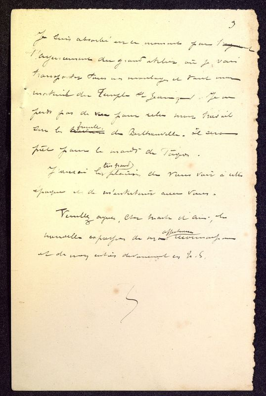Visuel du media #6 - Brouillon de lettre de De La Croix à Babelon du 12 avril 1897, page 3