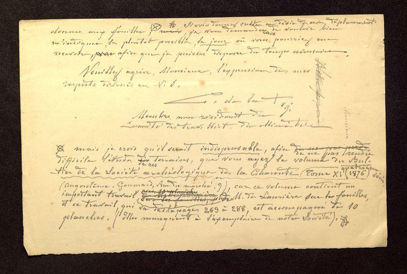 Visuel du media #4 - Lettre de De La Croix à Laporte-Bisquit du 12 avril 1901, page 2